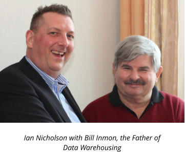 Ian Nicholson with Bill Inmon, the Father of Data Warehousing